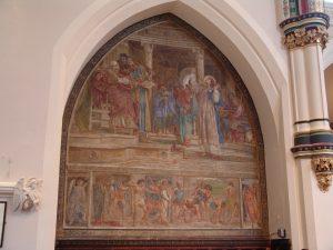 Poynter fresco at St Stephen's