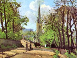 Camille Pissaro's painting of St Stephen's
