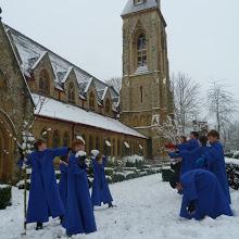 Choir in snow