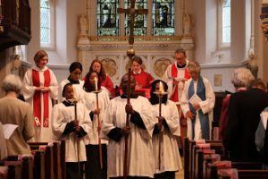 Procession in church